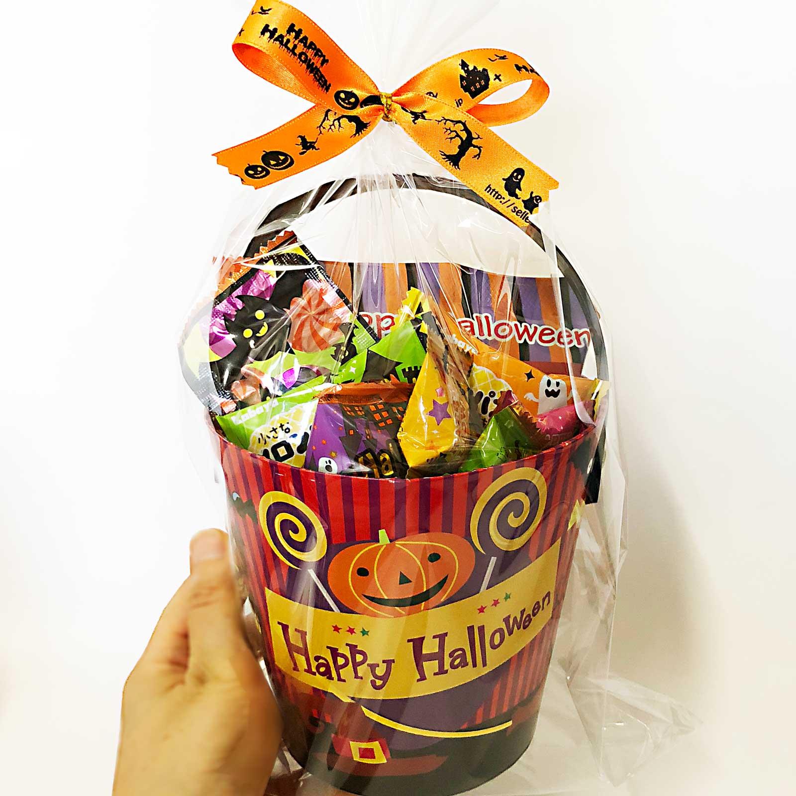 ハロウィンお菓子バケツ